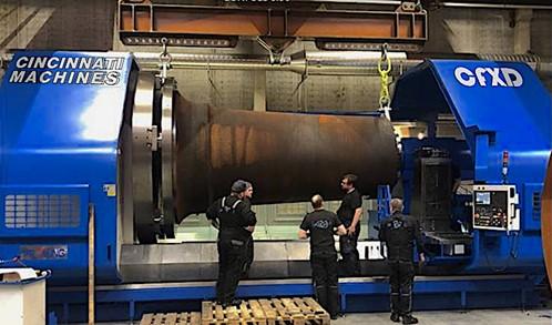 Massive Cincinnati Machines Support Production of Wind Turbine Electric Generators